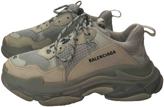 Balenciaga Triple S Grey Leather Trainers
