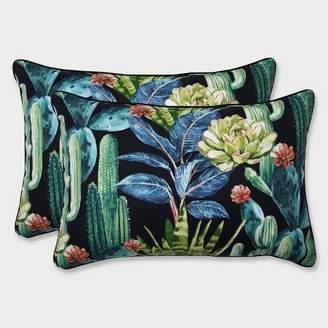Modern Outdoor Pillow Perfect 2pk Oversize Hatteras Rectangular Throw Pillow Black