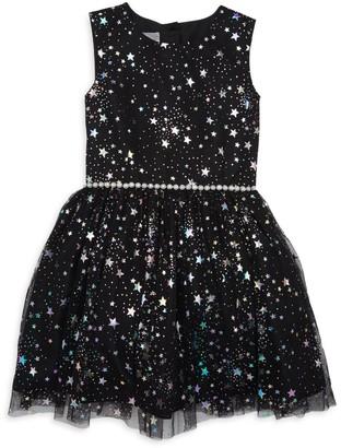 Pippa Pastourelle By & Julie Little Girl's & Girl's Foil Star Dress