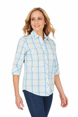 Foxcroft Women's Ava Wrinkle-Free Spring Gingham Shirt