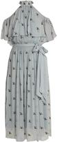 Temperley London Starling-embellished cold-shoulder chiffon dress