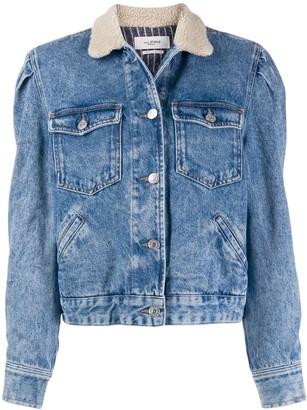 Etoile Isabel Marant Nolinea shearling-collar denim jacket