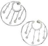 Chanel La Pluie 18K White Gold & Diamond Hoop Earrings