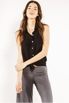 Saint Grace Sleeveless Edge Top in Black 7778143048