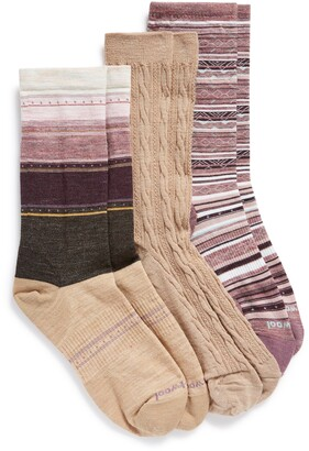 Smartwool Assorted 3-Pack Crew Socks