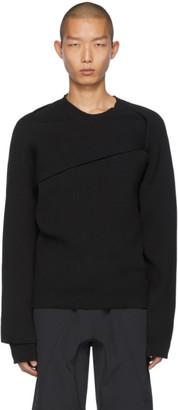 Bottega Veneta Black Asymmetric Knot Sweater