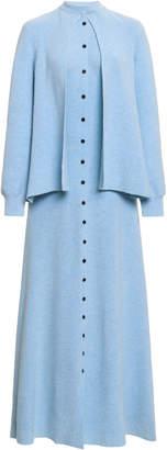 Lanvin Cape-Effect Cotton-Blend Maxi Dress