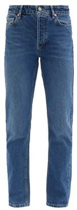 Raey Track High-rise Straight-leg Jeans - Dark Blue