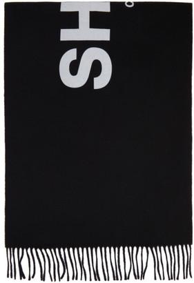 Comme des Garçons Shirt Black Wool Shirt 2020 Scarf