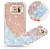 Urberry Galaxy S6 Case, Running Glitter Cover, Creative Design Flowing Liquid Floating Luxury Bling Glitter Sparkle Hard Case for Samsung Galaxy S6 with a Screen Protector
