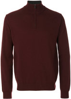Corneliani zipped neck jumper