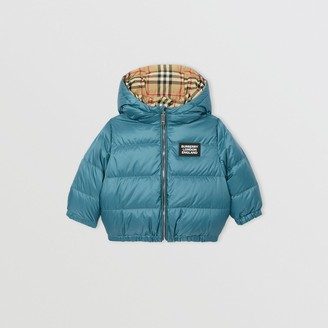 Burberry Childrens Reversible Vintage Check Down-filled Puffer Jacket