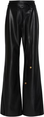 Nanushka Chimo Faux Leather Flared Pants