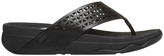 FitFlop Leather Lattice Surf All Black Sandal