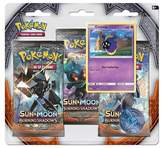 Pokemon Sun Moon Burning Shadows Trading Card Game 3 Pack featuring Cosmog