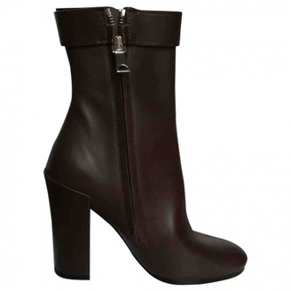 Proenza Schouler Brown Leather Ankle boots