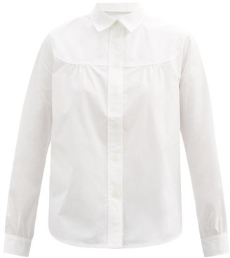 A.P.C. Pascale Gathered Cotton-poplin Shirt - White