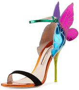 Sophia Webster Chiara Butterfly Wing Ankle-Wrap Sandal, Purple/Teal
