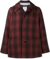 Visvim McKinley Linen Wool-Blend Buffalo Check Coat