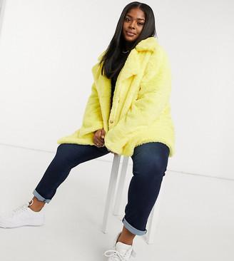Daisy Street Plus oversized coat in faux fur