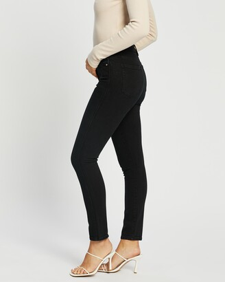 Neuw Women's Black High-Waisted - Marilyn Skinny Jeans - Size 24 at The Iconic