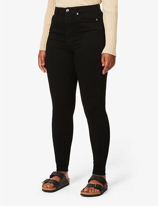 Good American Good Waist skinny ultra high-rise jeans, Women's, Size: 14, Black004