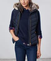 Joules Women's Outerwear Vests - Navy Maybury Puffer Vest - Women