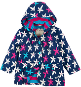 Hatley Girls' Flower Print Raincoat, Navy