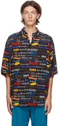 Balenciaga Black TV Show Logo Large Fit Shirt