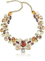 A-Z Collection Multicolor Crystal Necklace
