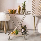 Graham and Green Silver Hourglass Drinks Trolley