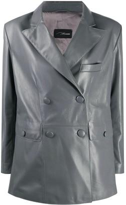 Manokhi Oversized Leather Blazer