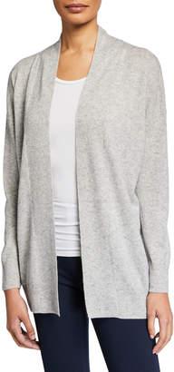 Vince Open-Front Drop-Shoulder Wool/Cashmere Cardigan