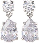 Marchesa Faceted CZ Double Drop Earrings