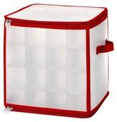 Whitmor Zipper Cube Christmas Ornament Organizer - Red (Small)