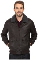 Dockers Two-Pocket Laydown Collar Aviator Bomber w/ Removable Sherpa Collar