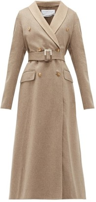 Gabriela Hearst Joaquin Double-breasted Belted Cashmere Coat - Ivory