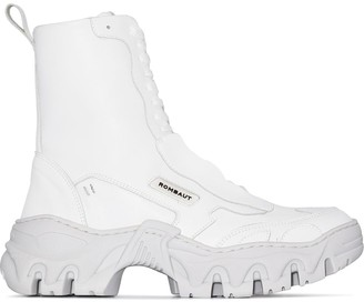 Rombaut White Boccacio chunky sole ankle boots
