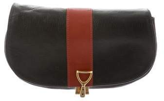 Oscar de la Renta Bicolor Leather Clutch