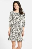 Eliza J Jacquard Fit & Flare Dress (Regular & Petite)