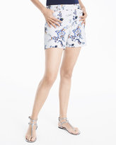 White House Black Market 5-inch Floral Printed Smooth Stretch Shorts