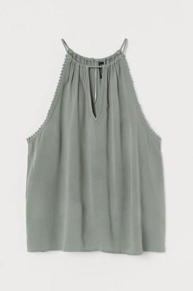 H&M Crinkled sleeveless top