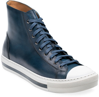 Magnanni Men's Illora High-Top Leather Sneakers