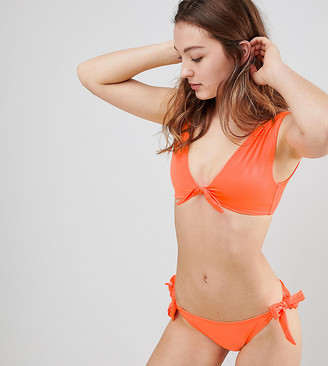 New Look Tie Front Wide Strap Bikini Top