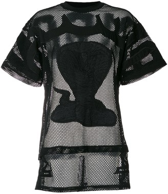 Kokon To Zai poison cobra embroidered mesh T-shirt