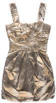 Diane von Furstenberg Snake Skin Print Sleeveless Dress