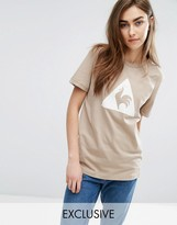 Le Coq Sportif Exclusive To ASOS Flocked Logo T-Shirt In Camel