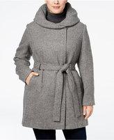 Calvin Klein Plus Size Hooded Walker Coat