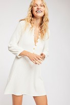 Free People Fp Beach Blossom Button-Up T-Shirt Dress by FP Beach at Free People, White Sands, XS