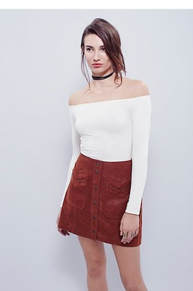 Free People Off -The-Shoulder Solid Top by Intimately at